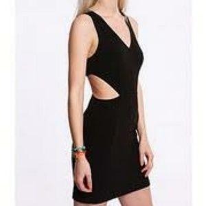Silence + Noise Black Cutout Dress